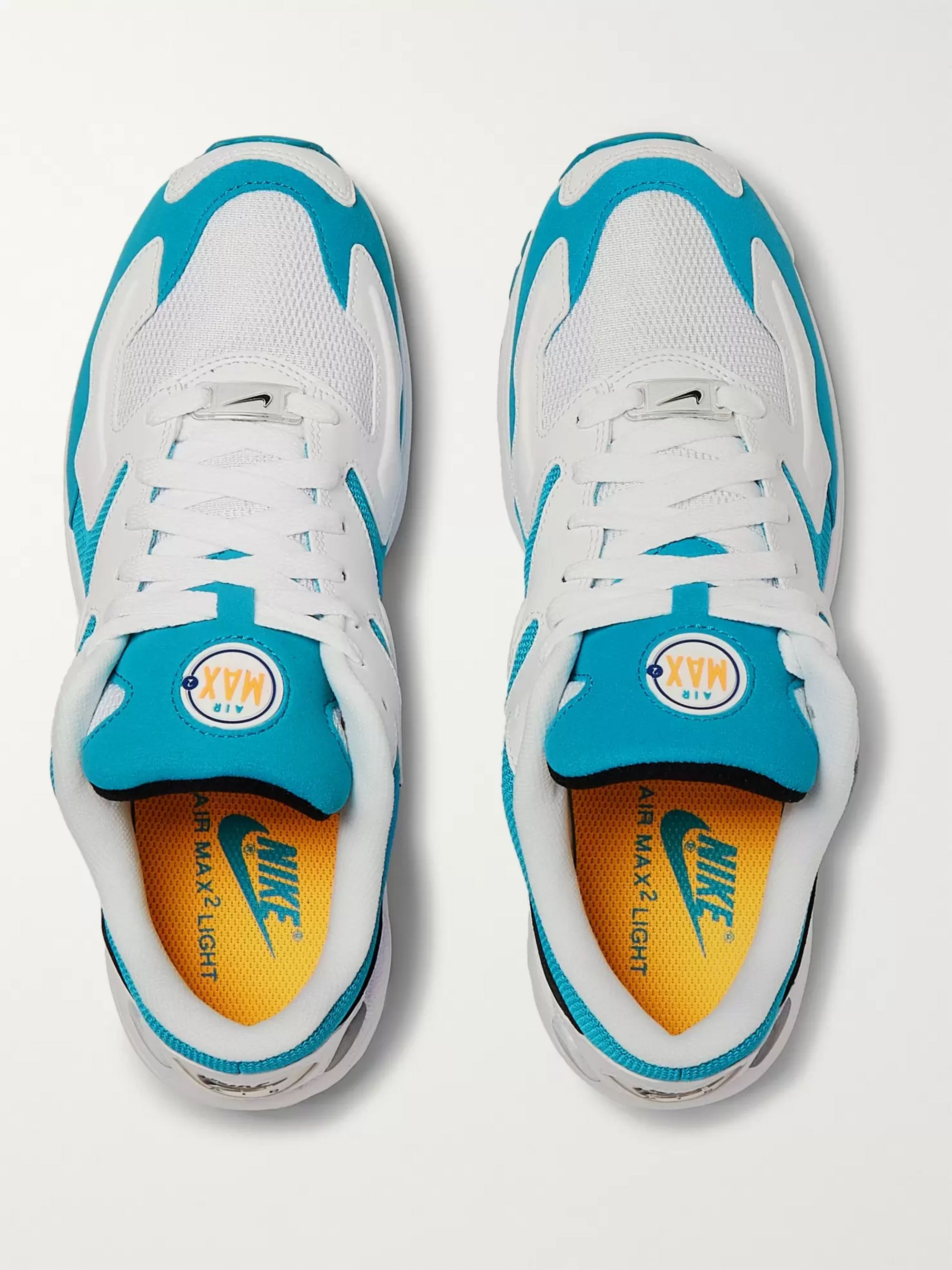 Nike Air Max2 Light Mesh and Faux Leather Sneakers