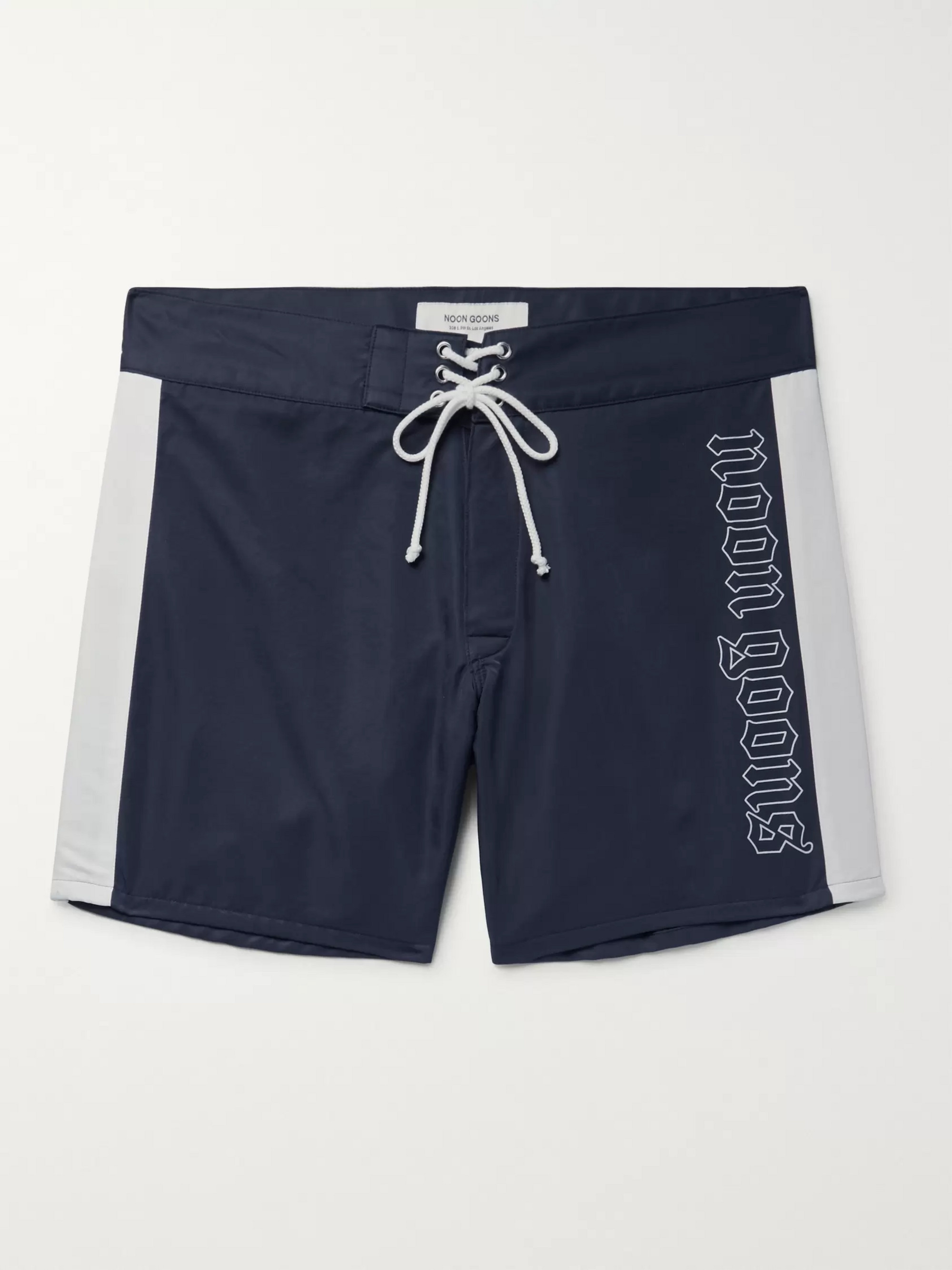 Noon Goons Logo-Print Shell Swim Shorts