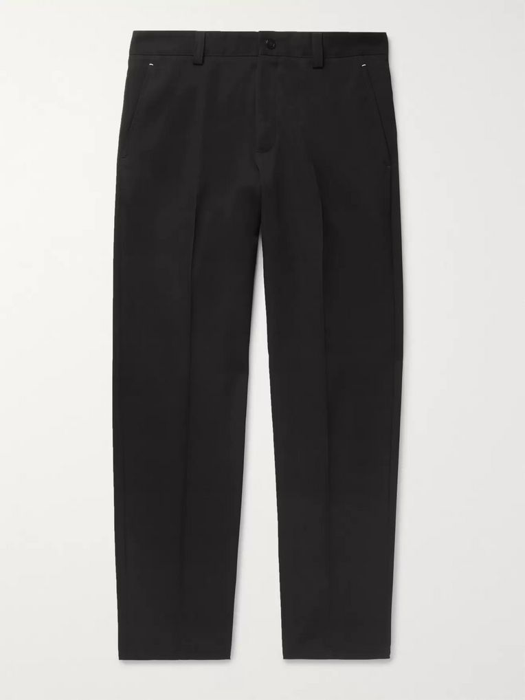 Berluti Black Tapered Wool-Twill Trousers