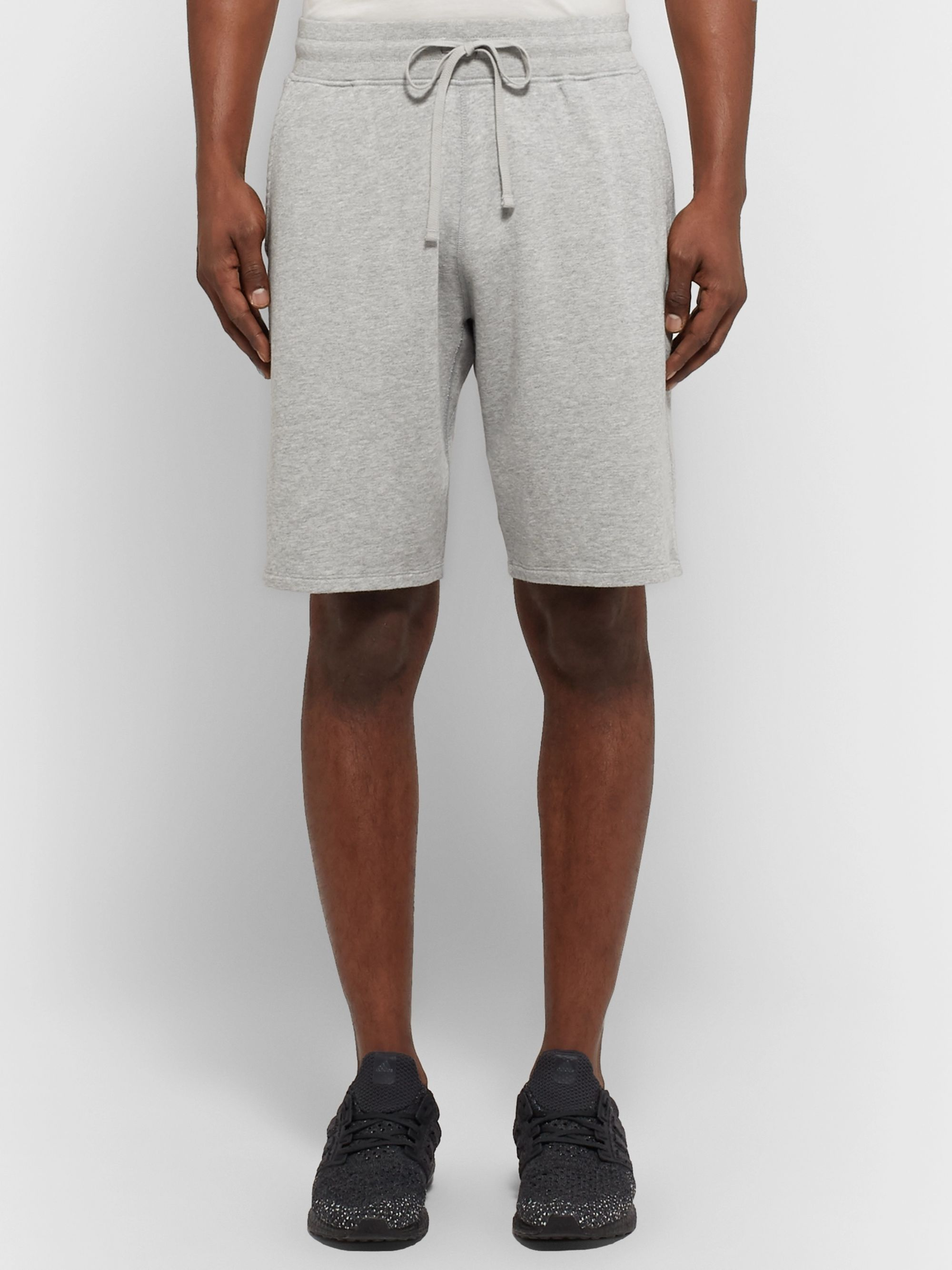 Reigning Champ Mélange Loopback Pima Cotton-Jersey Drawstring Shorts