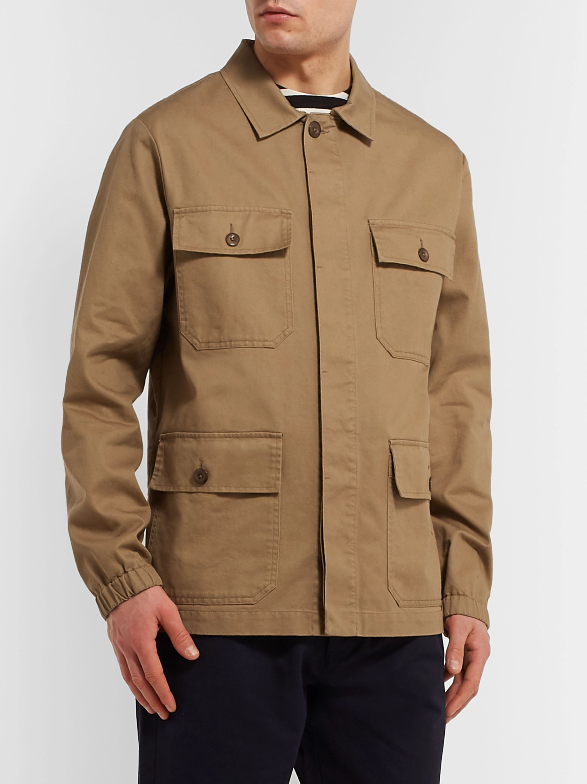 Margaret Howell MHL Engineers Cotton and Linen-Blend Twill Field Jacket
