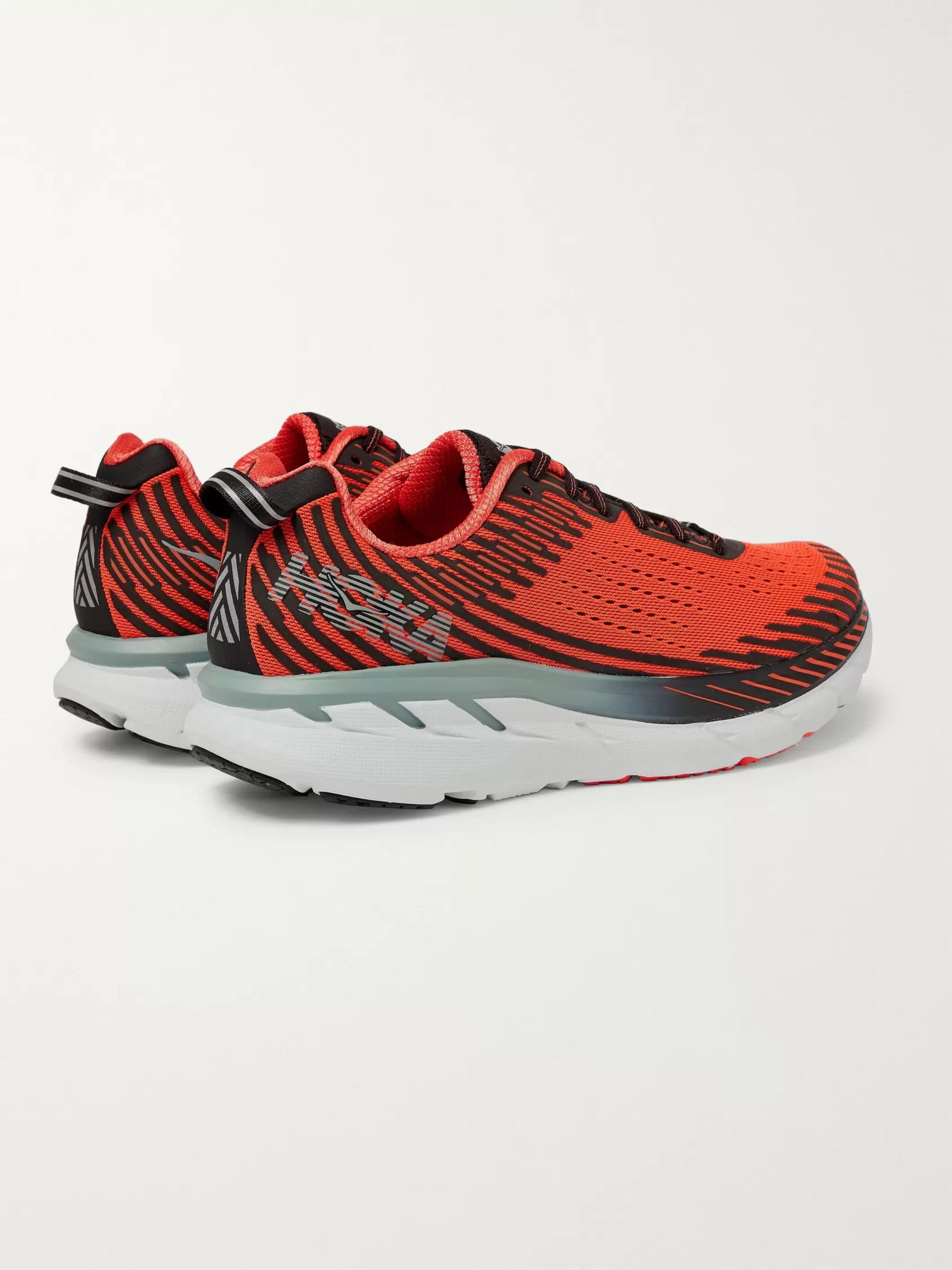 Hoka One One Clifton 5 Logo-Print Mesh Running Sneakers
