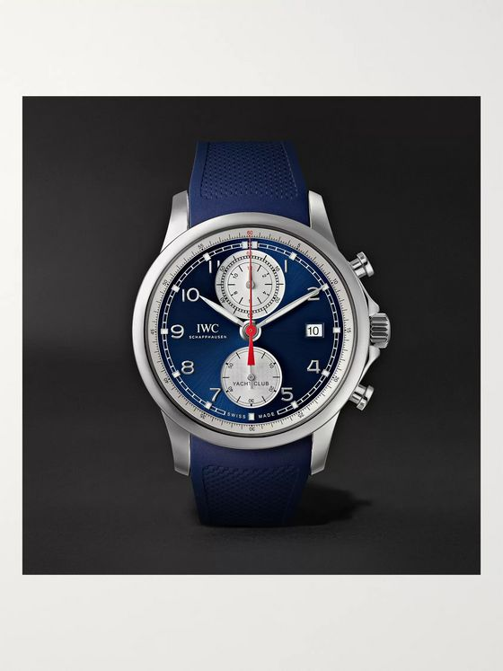 IWC SCHAFFHAUSEN Portugieser Yacht Club Automatic Chronograph 43.5mm Stainless Steel and Rubber Watch