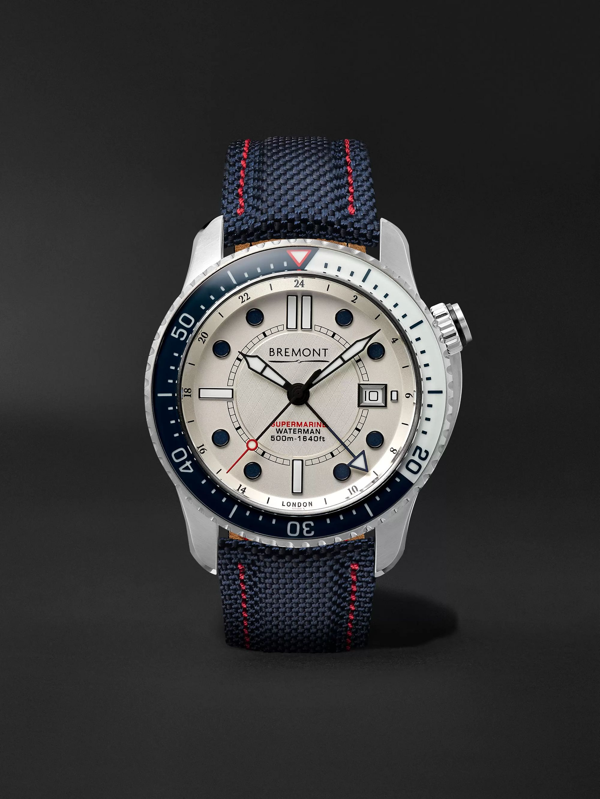 Bremont Supermarine Waterman Limited Edition Automatic 43mm Stainless Steel and Kevlar Watch, Ref. No. S500