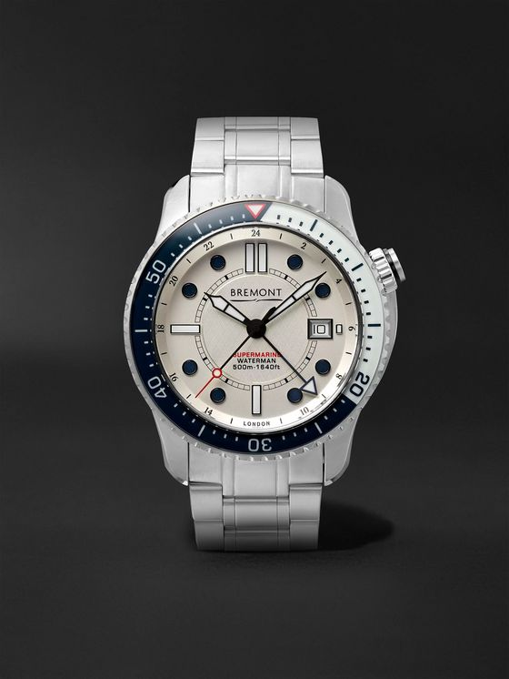 Bremont Supermarine Waterman Limited Edition Automatic 43mm Stainless Steel Watch, Ref. No. S500/WATERMAN