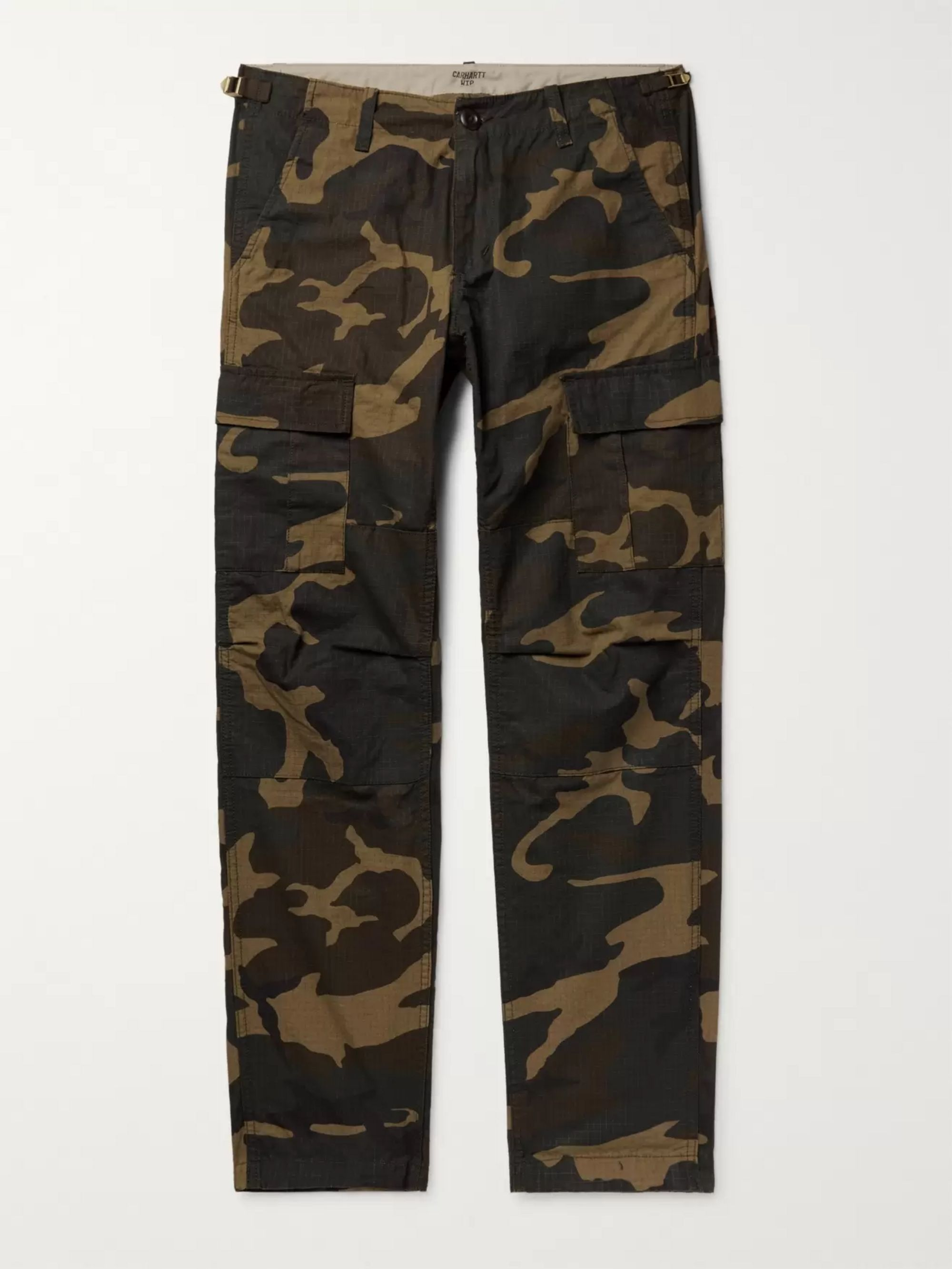 Aviation Slim Fit Printed Cotton Ripstop Cargo Trousers