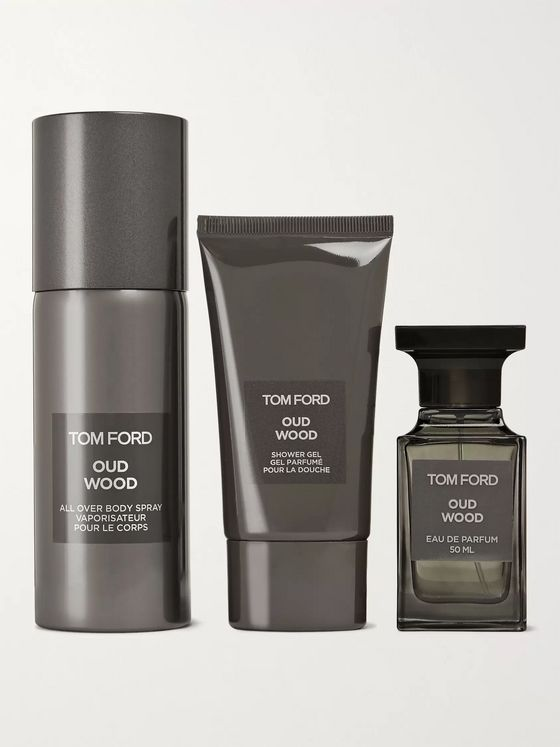 TOM FORD BEAUTY Private Blend Oud Wood All-Over Body Spray, Eau De Parfum and Shower Gel Set