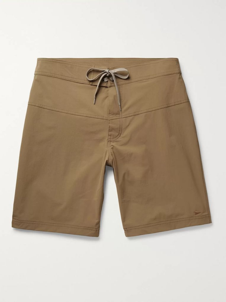 Pilgrim Surf + Supply Ballard Long-Length Swim Shorts
