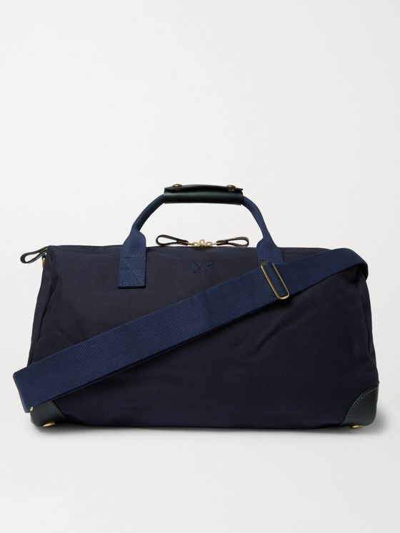 Bennett Winch Commuter Leather-Trimmed Cotton-Twill Holdall