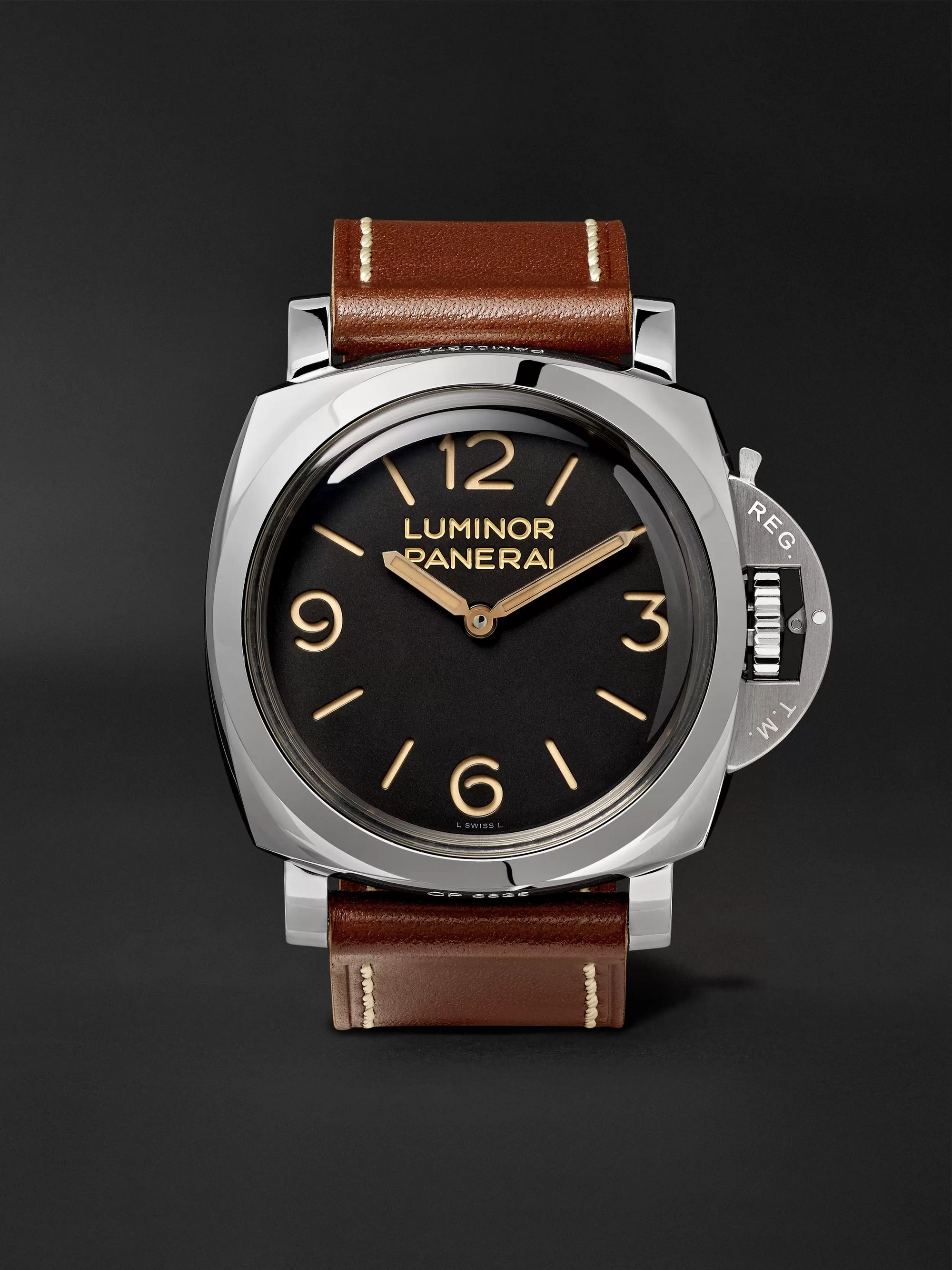 Panerai Luminor 1950 3 Days Acciaio 47mm Stainless Steel and Leather Watch, Ref. No. PAM00372