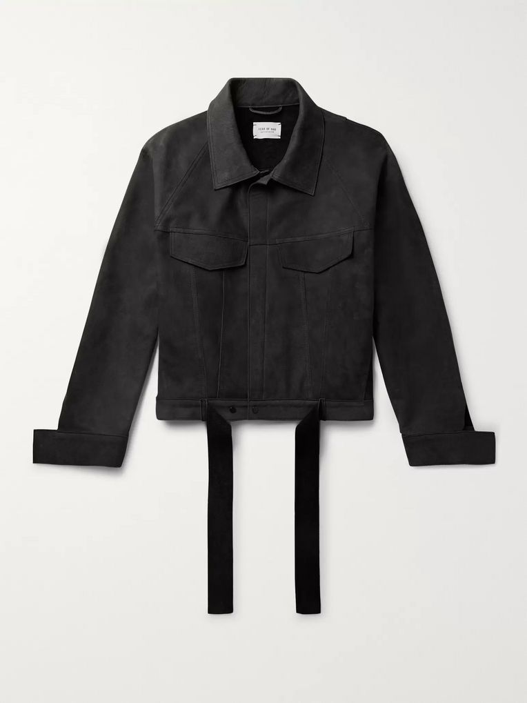 Fear of God Belted Nubuck Trucker Jacket