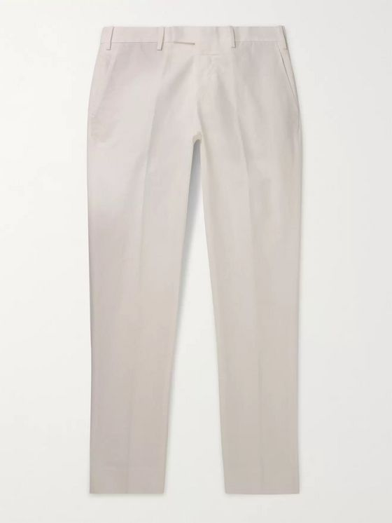 SALLE PRIVÉE Gehry Slim-Fit Cotton and Linen-Blend Chinos