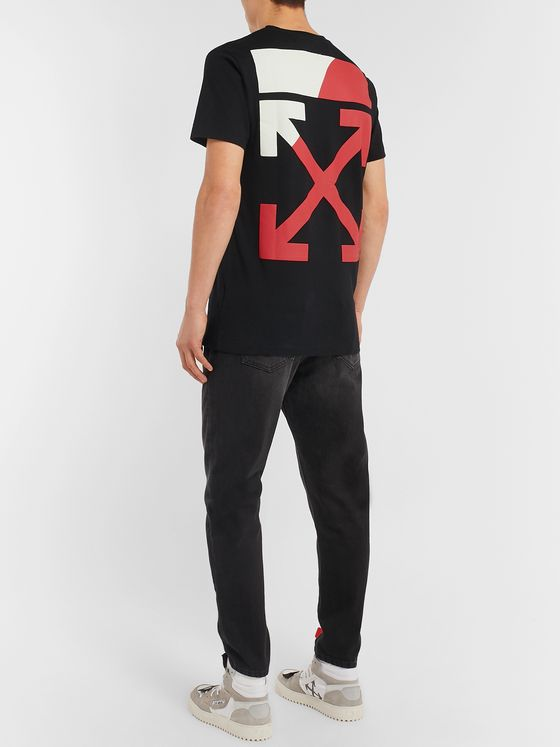 Off-White Slim-Fit Logo-Print Cotton-Jersey T-shirt