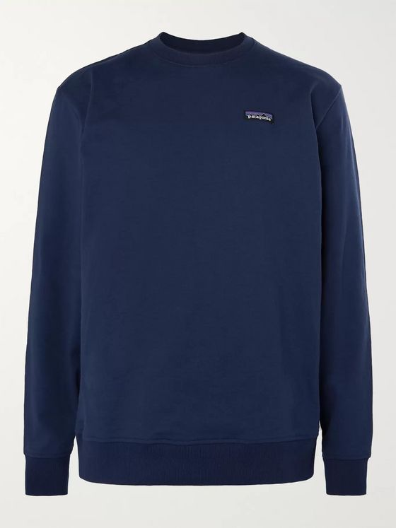 PATAGONIA P-6 Logo-Appliquéd Fleece-Back Jersey Sweatshirt
