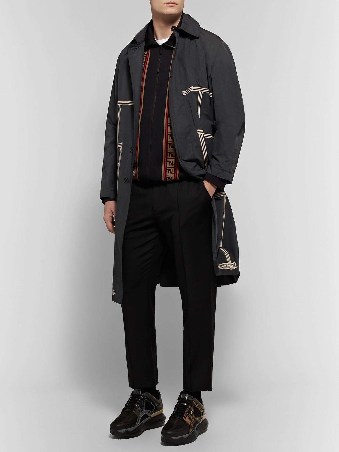 Fendi Coats PRINTED NYLON-BLEND TRENCH COAT