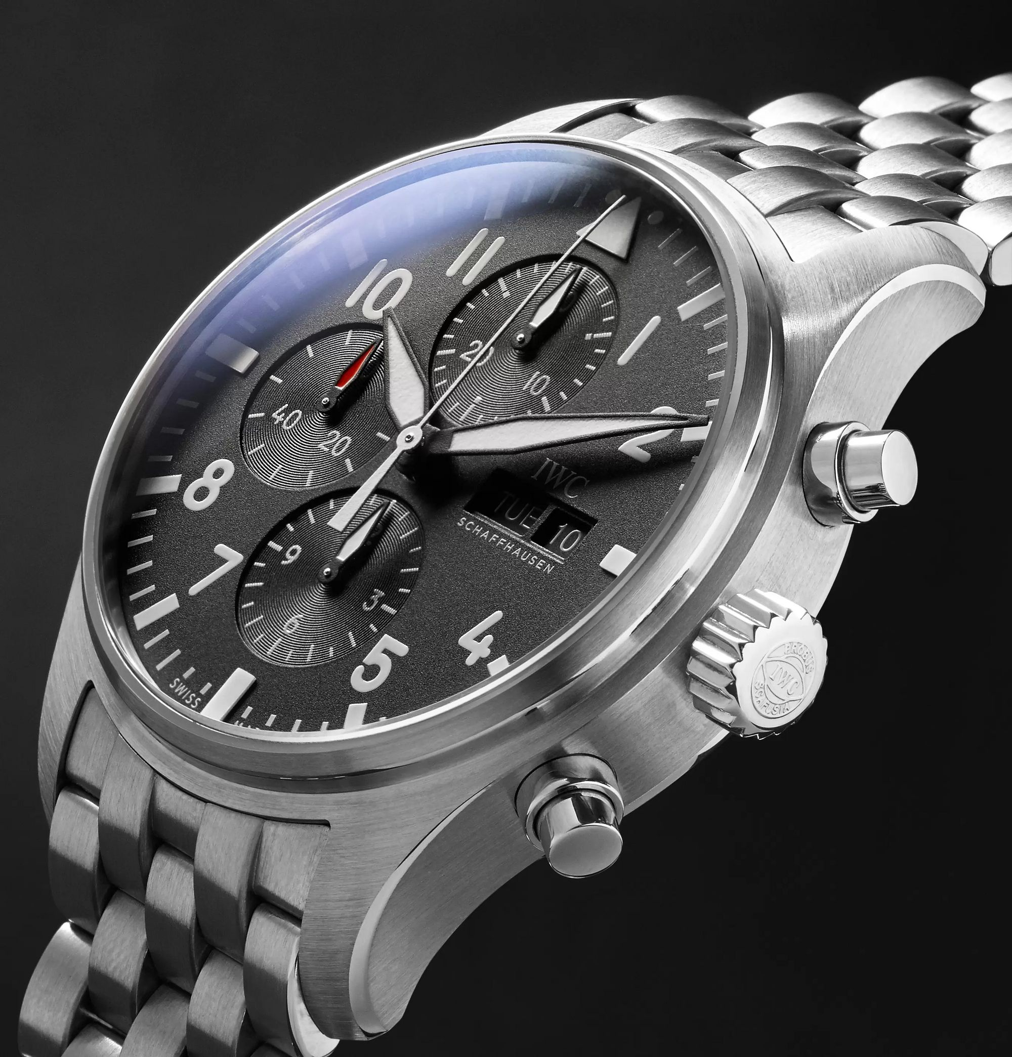 IWC SCHAFFHAUSEN Pilot's Chronograph 43mm Stainless Steel Watch, Ref. No. IW377710