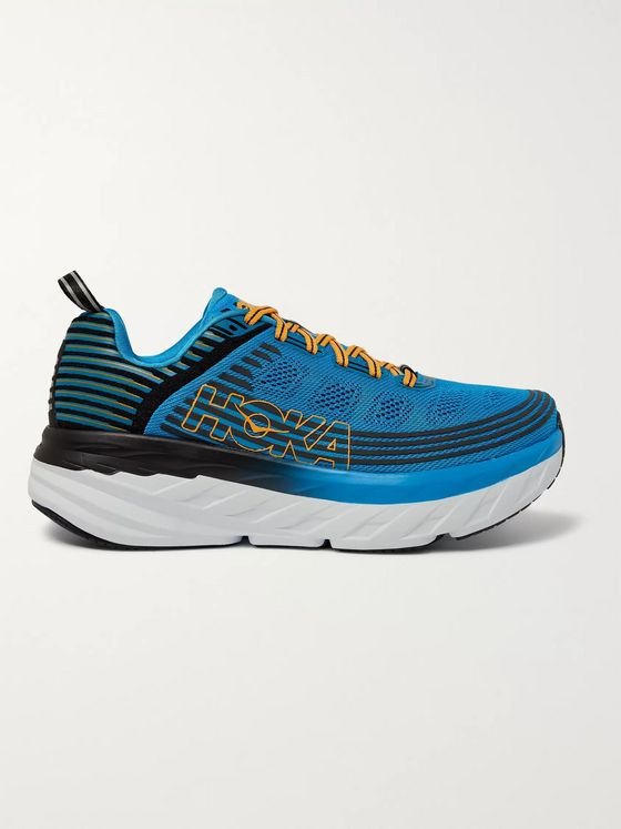 Hoka One One Bondi 6 Mesh Running Sneakers