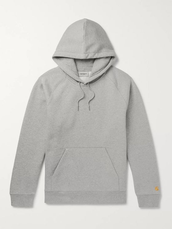 Carhartt WIP Chase Logo-Embroidered Fleece-Back Cotton-Blend Jersey Hoodie