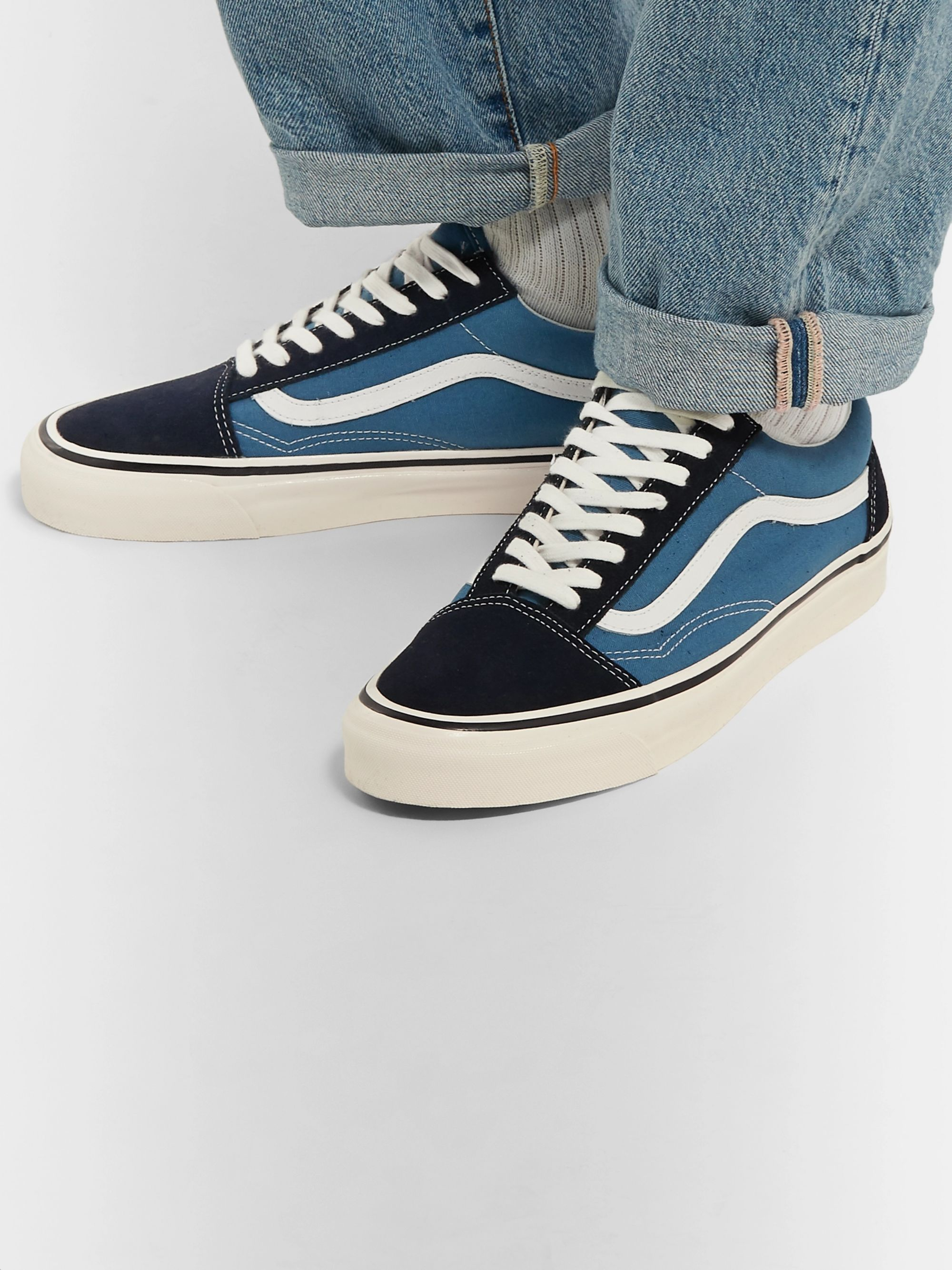 Vans UA Style 36 Leather-Trimmed Canvas and Suede Sneakers