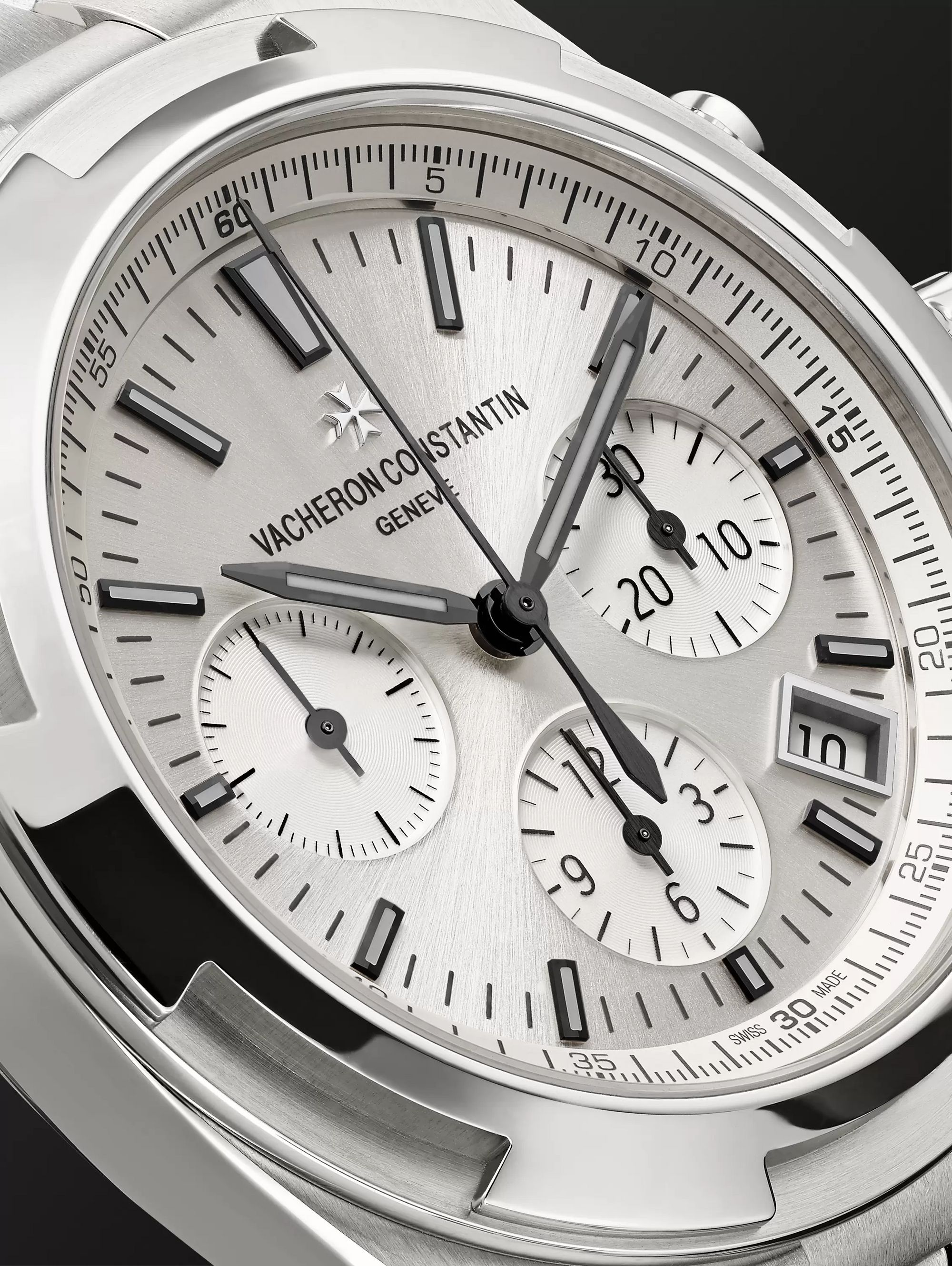 Vacheron Constantin Overseas Automatic Chronograph 42.5mm Stainless Steel Watch, Ref. No. 5500V/110A-B148