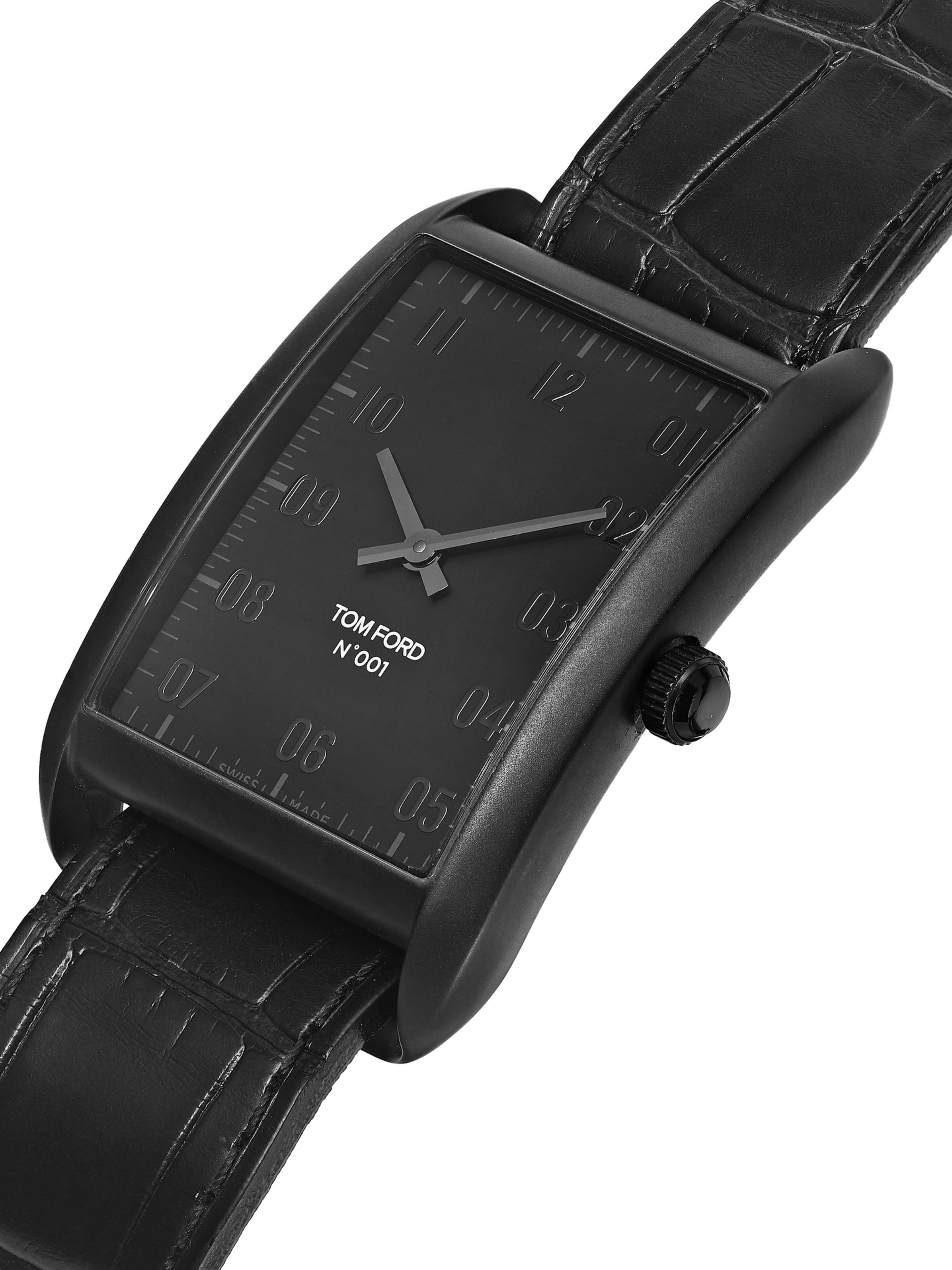 Tom Ford Timepieces Stainless Steel and Alligator Watch