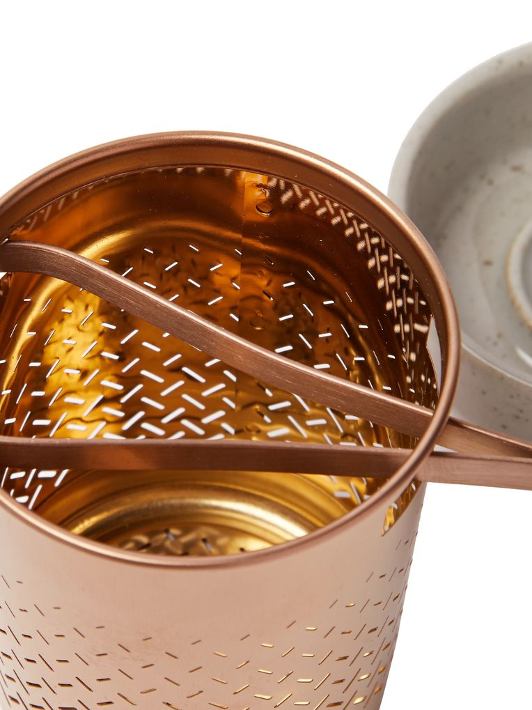 Toast Living Weaver Copper-Tone Tea Infuser