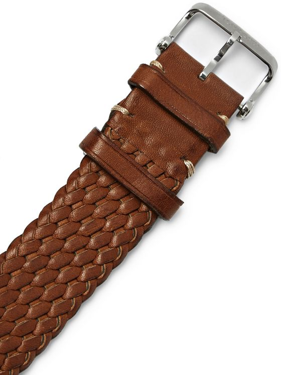 Tom Ford Timepieces Woven Leather Watch Strap