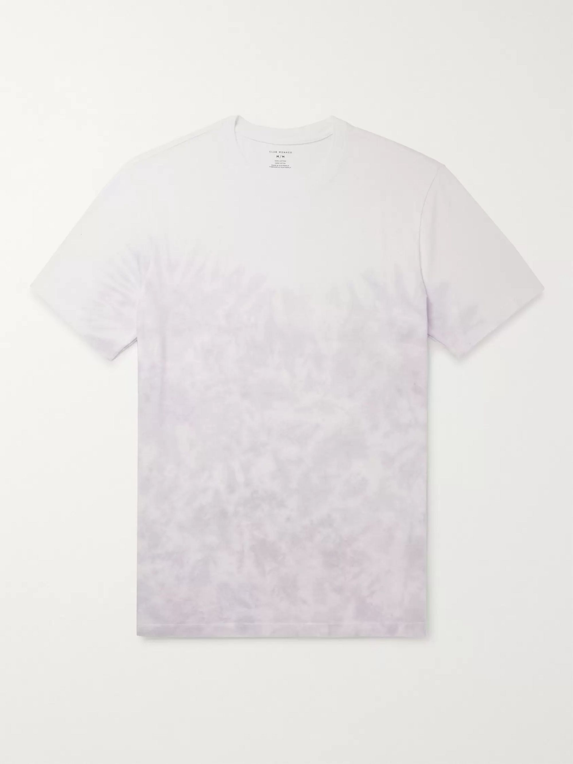 Club Monaco Tie-Dyed Cotton-Jersey T-Shirt