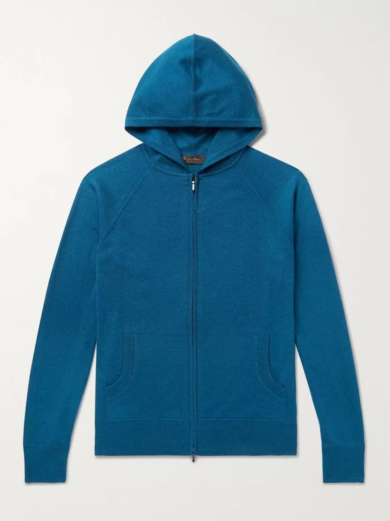 LORO PIANA Portland Cashmere and Silk-Blend Zip-Up Hoodie