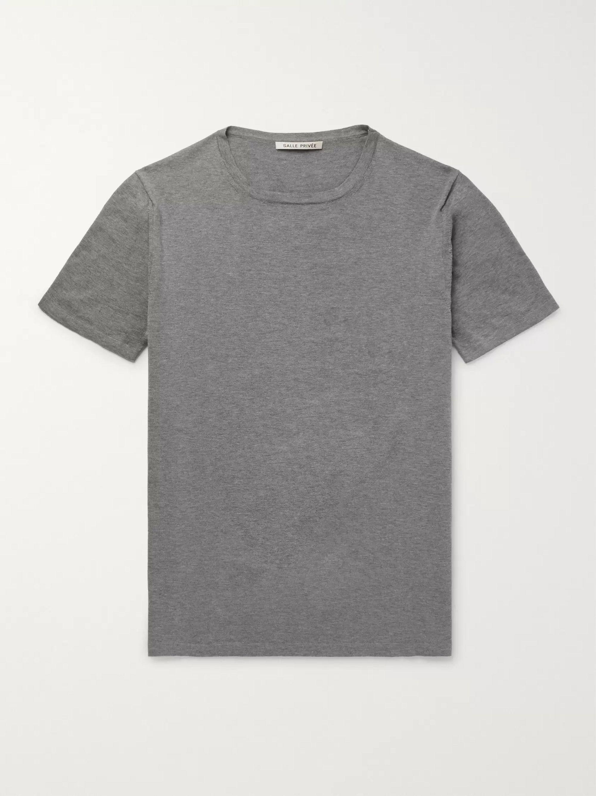 Simon Mélange Cotton T Shirt