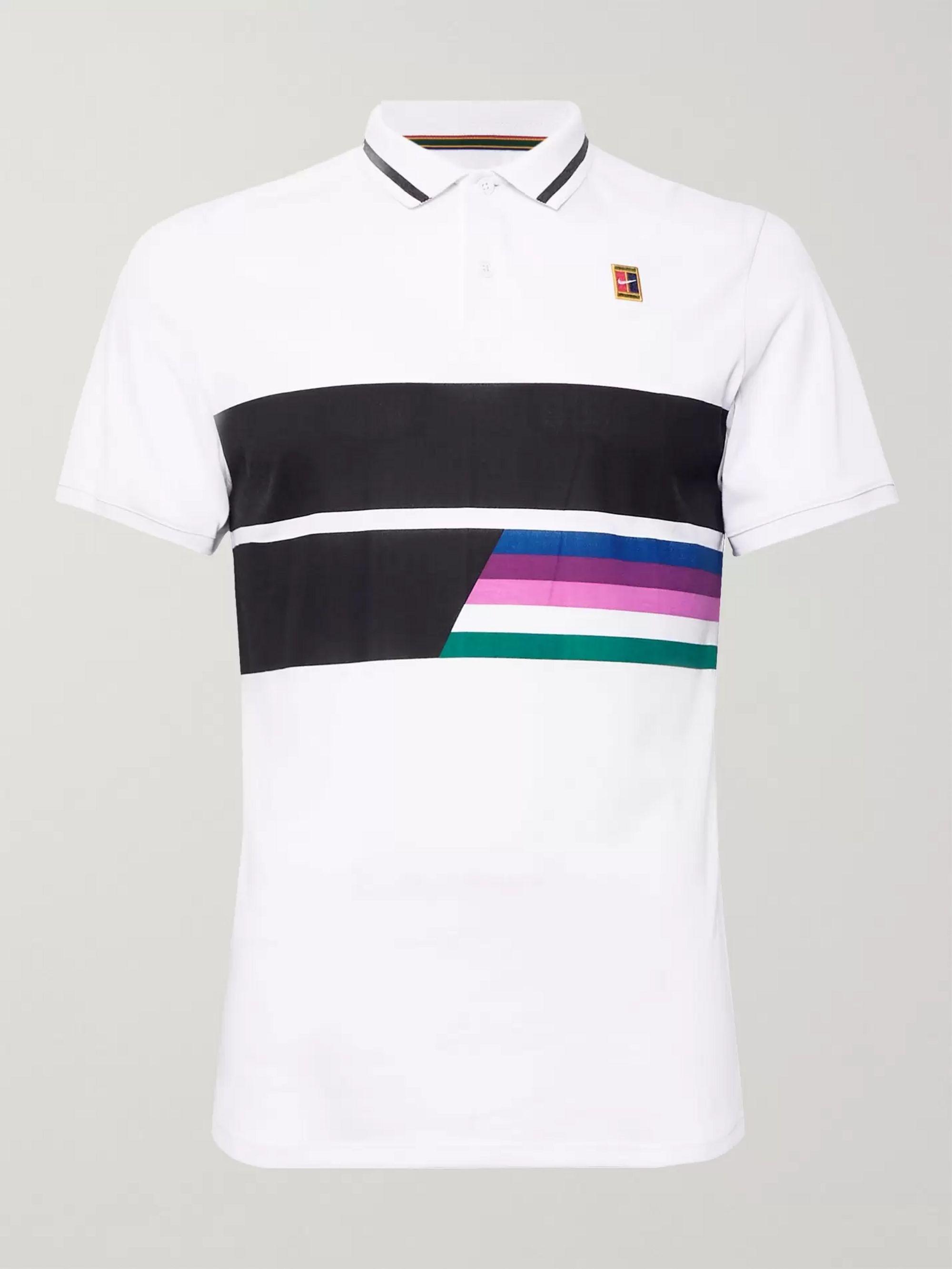 NikeCourt Advantage Printed Dri-FIT Tennis Polo Shirt