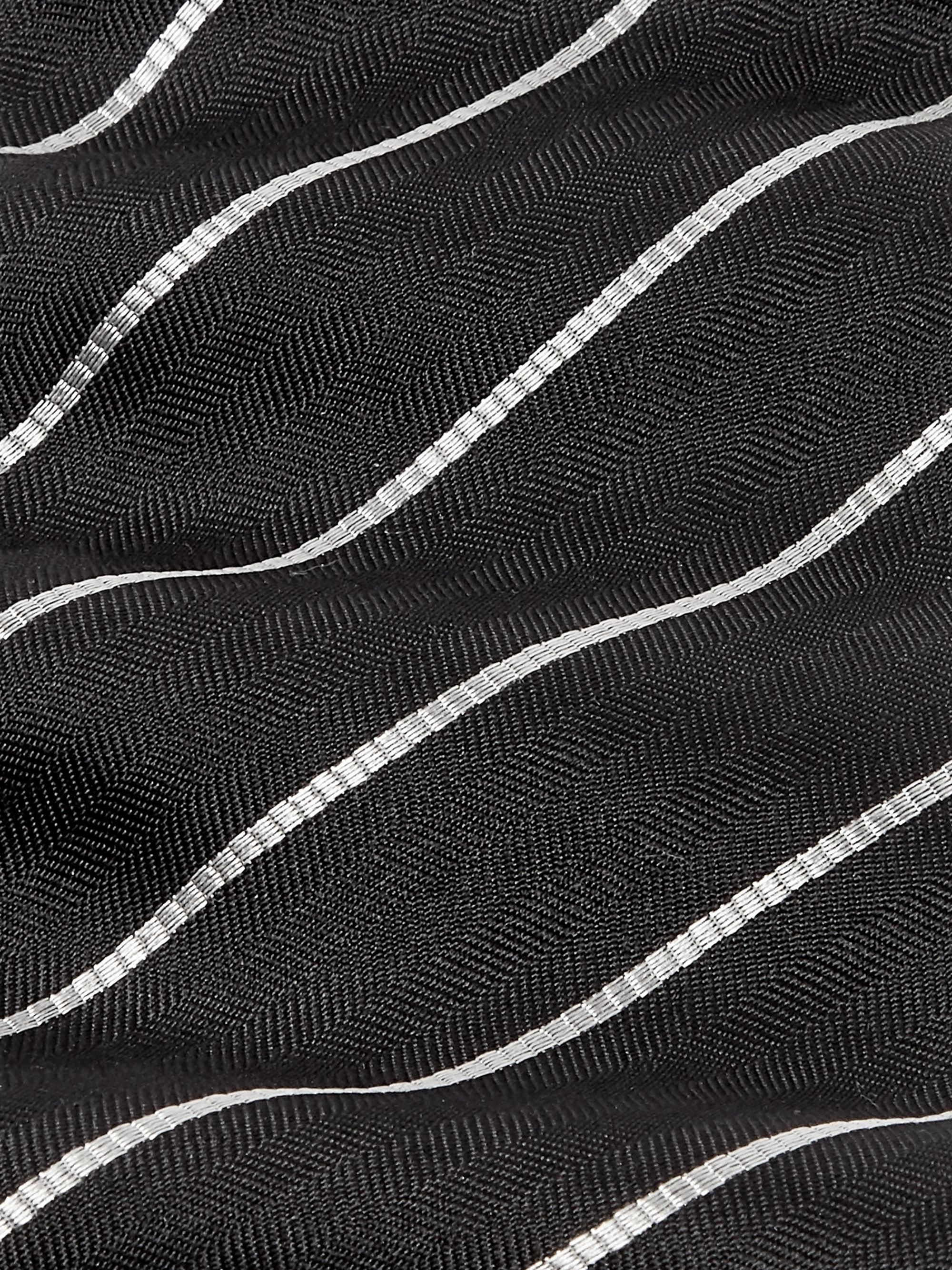 The Row 7.5cm Alain Striped Herringbone Silk Tie