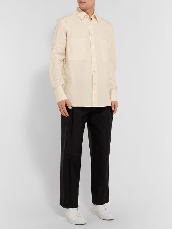 THE ROW Gerald Cotton and Wool-Blend Shirt