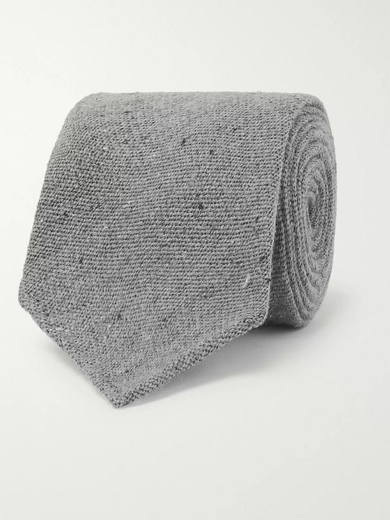 Thom Sweeney 8cm Mélange Wool and Silk-Blend Tie