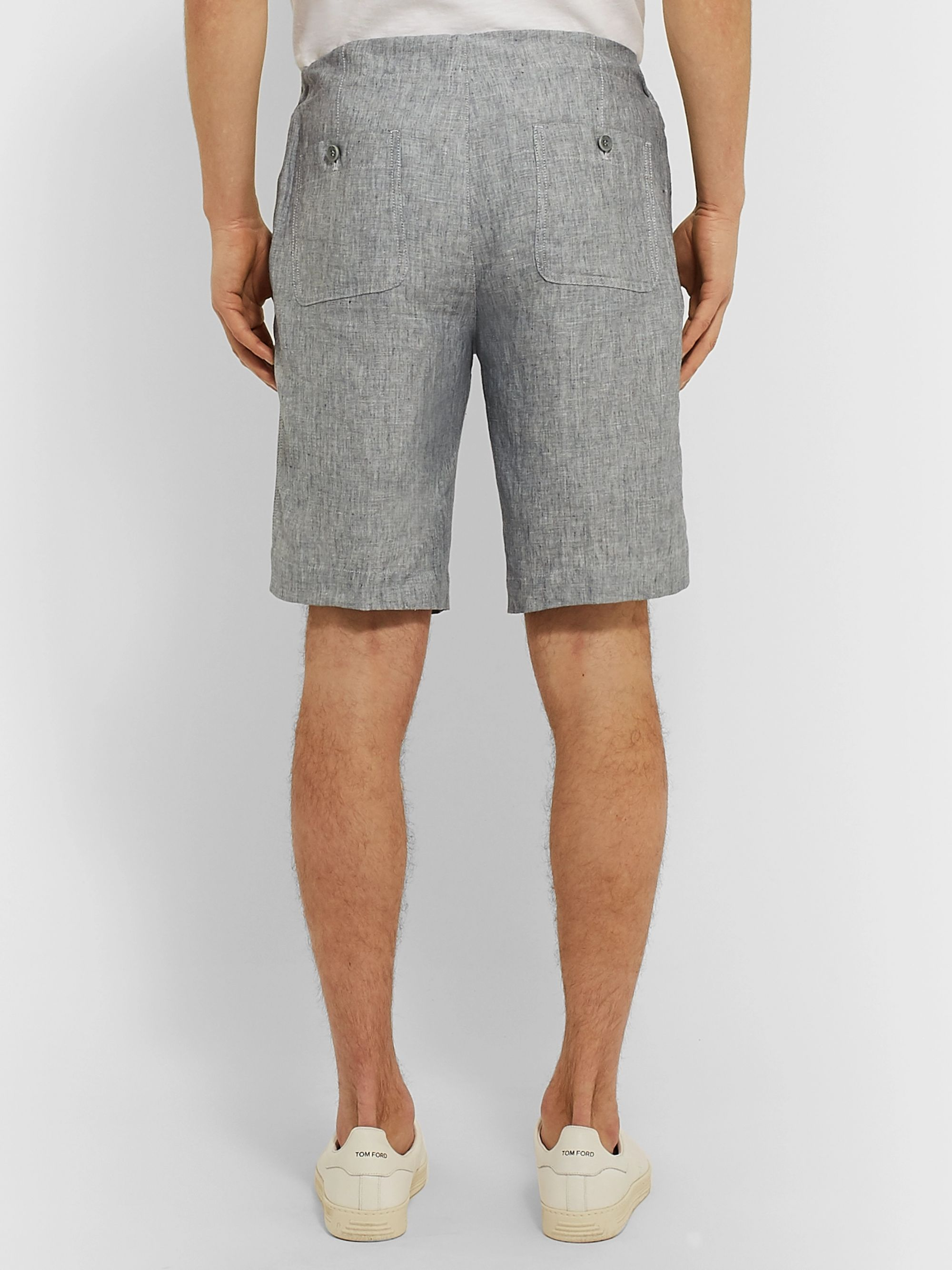 Loro Piana Slim-Fit Linen Drawstring Shorts