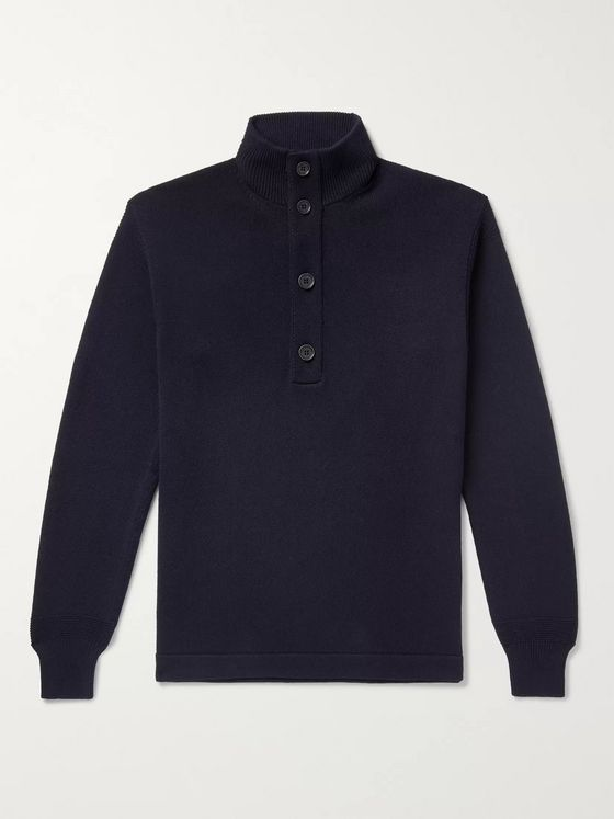 Loro Piana Slim-Fit Cotton and Silk-Blend Half-Placket Sweater