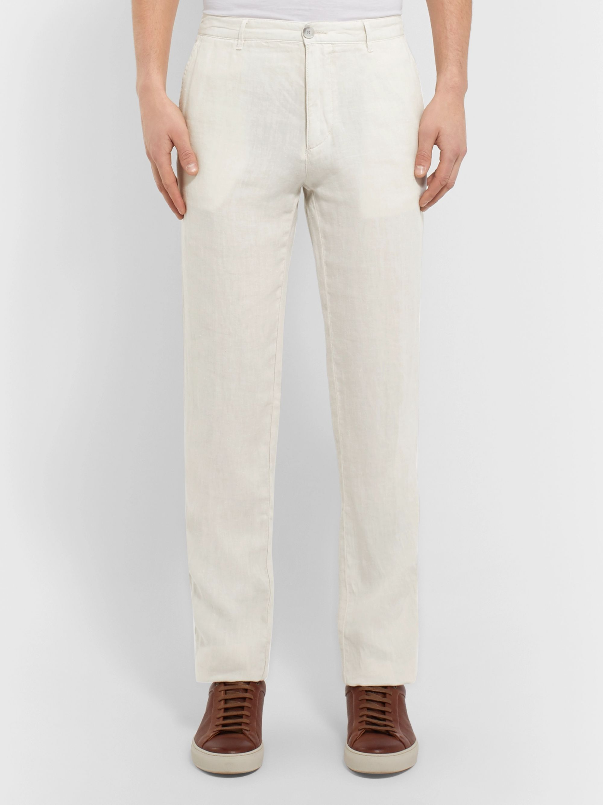 Hugo Boss Crigan Slim-Fit Linen Trousers