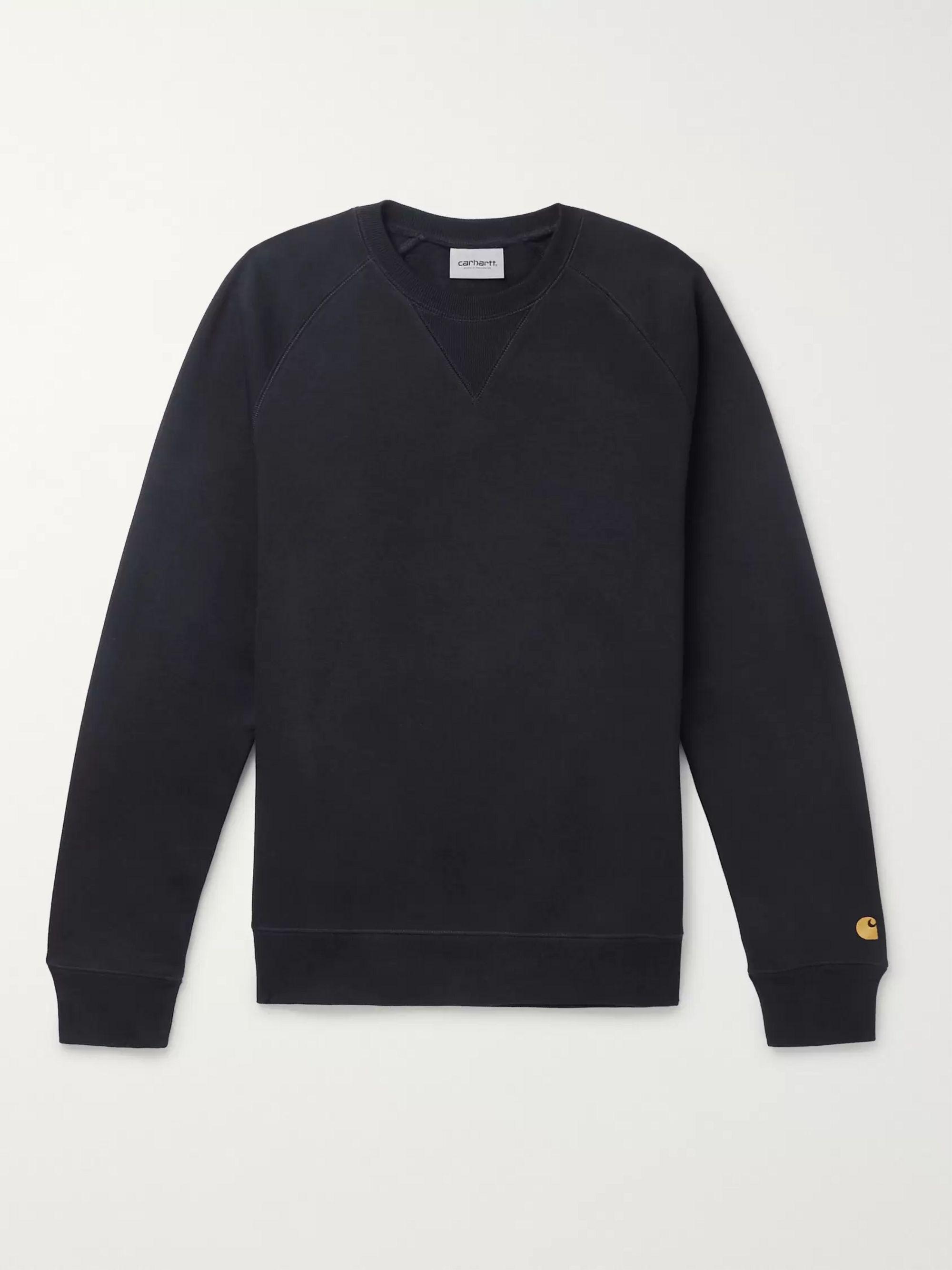 Chase Mélange Fleece Back Cotton Blend Jersey Sweatshirt