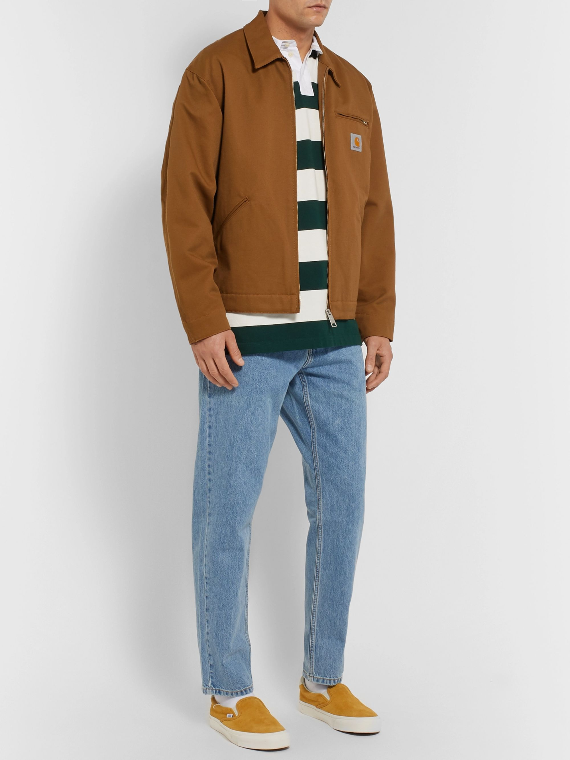Carhartt WIP Roslyn Twill-Trimmed Striped Cotton Rugby Shirt