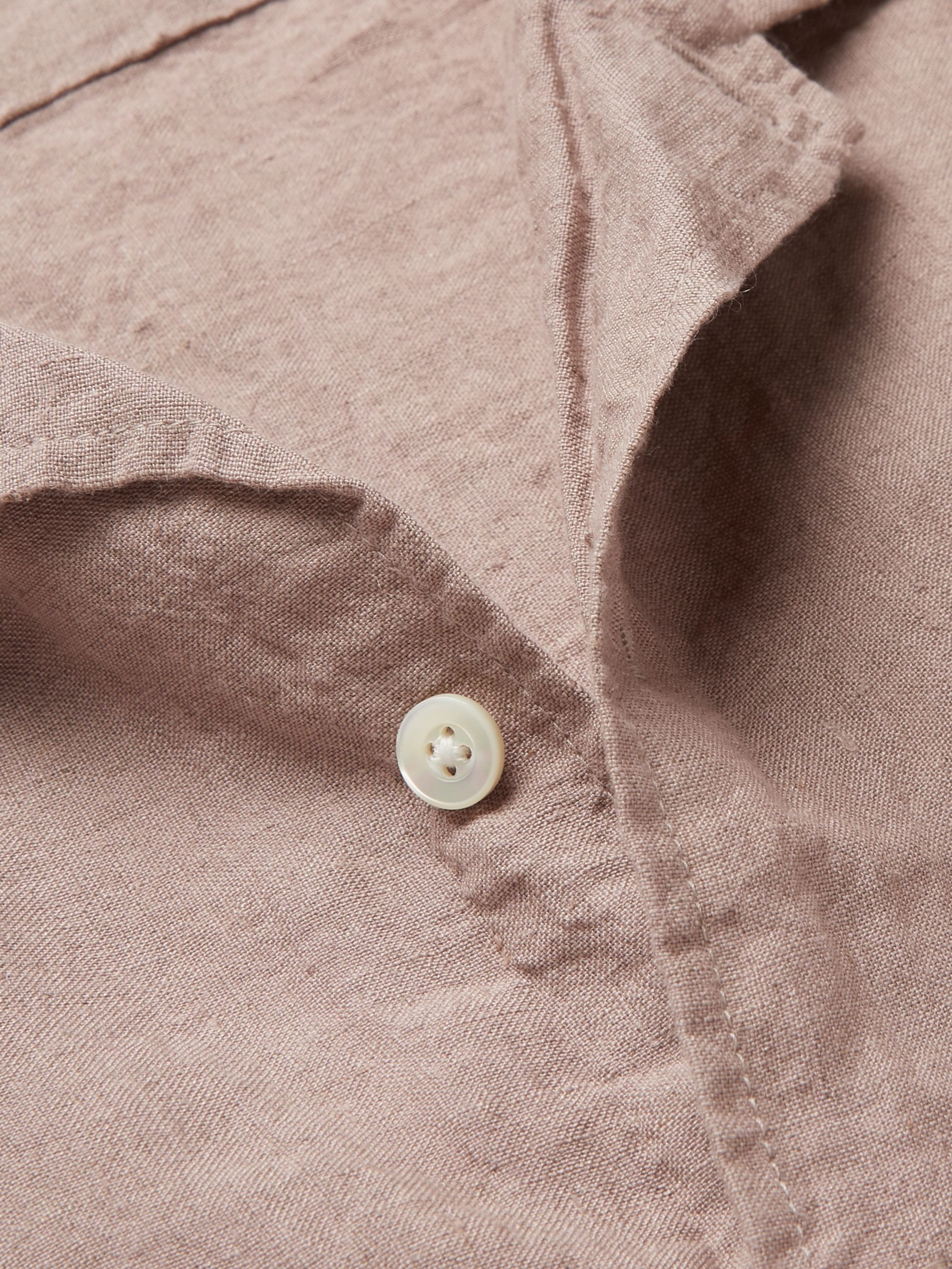 Pilgrim Surf + Supply Camp-Collar Slub Linen Shirt