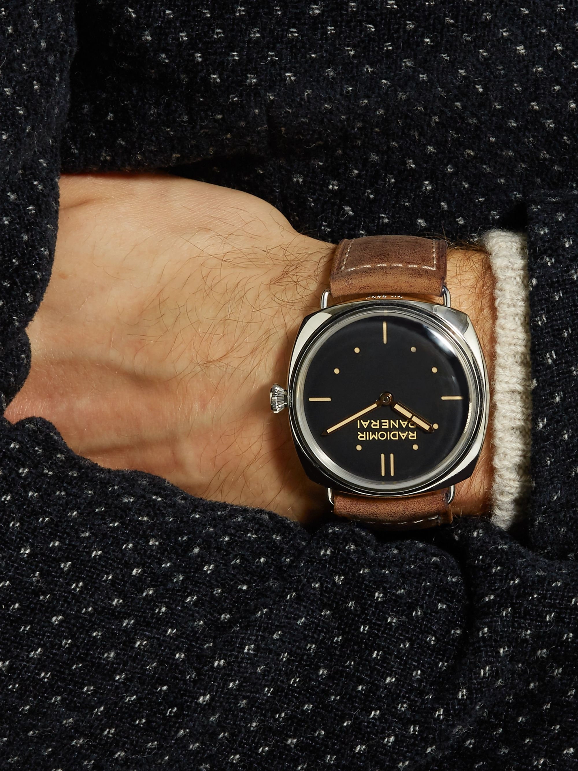 Panerai Radiomir S.L.C. 3 Days Acciaio 47mm Steel and Leather Watch, Ref. No. PAM00425