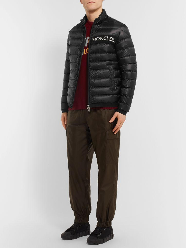 Moncler Neveu Quilted Shell Down Jacket