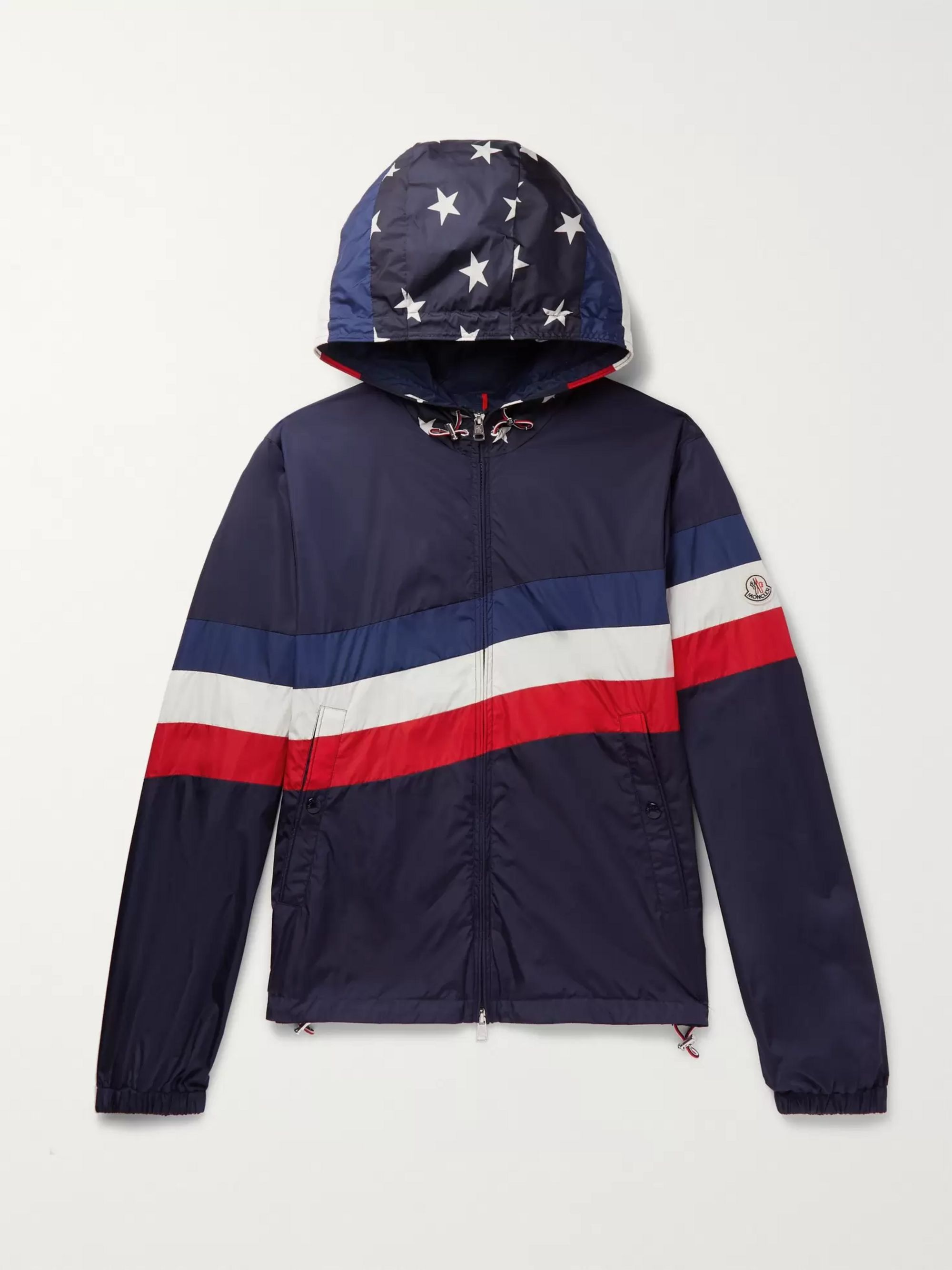 Moncler Printed Shell Hooded Jacket