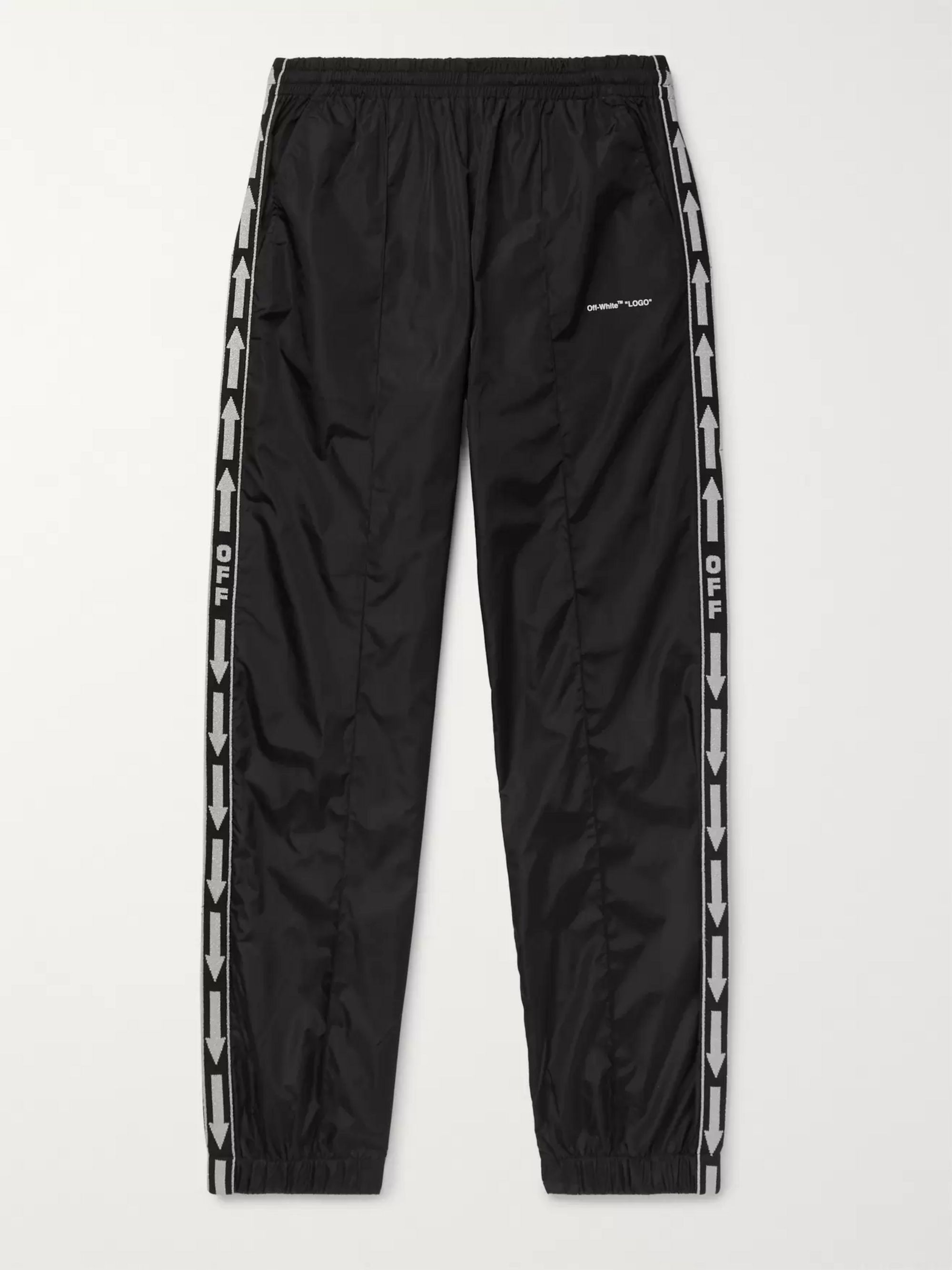 Off-White Slim-Fit Webbing-Trimmed Shell Track Pants