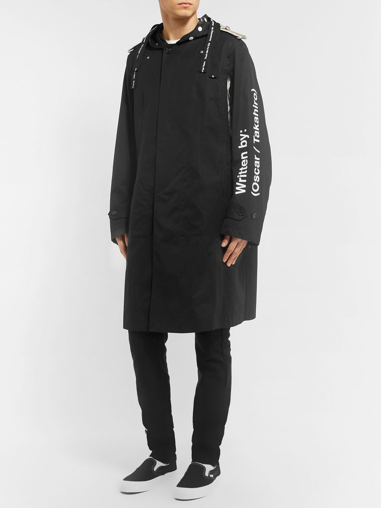 TAKAHIROMIYASHITA TheSoloist. Printed Cotton-Gabardine Trench Coat