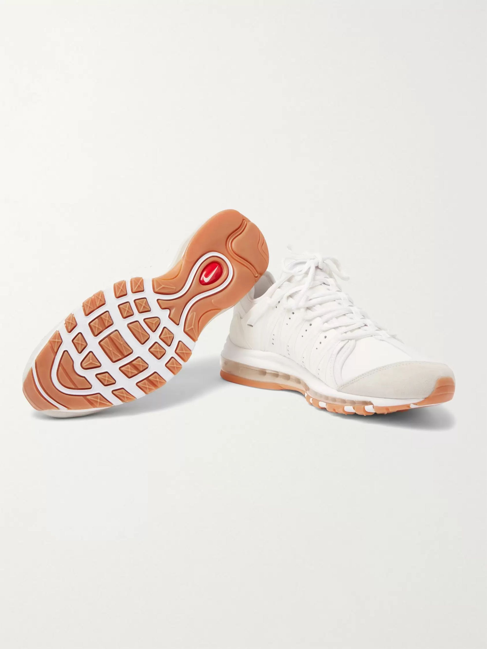 Nike | Air Max 97 leather and mesh sneakers | NET A PORTER.COM