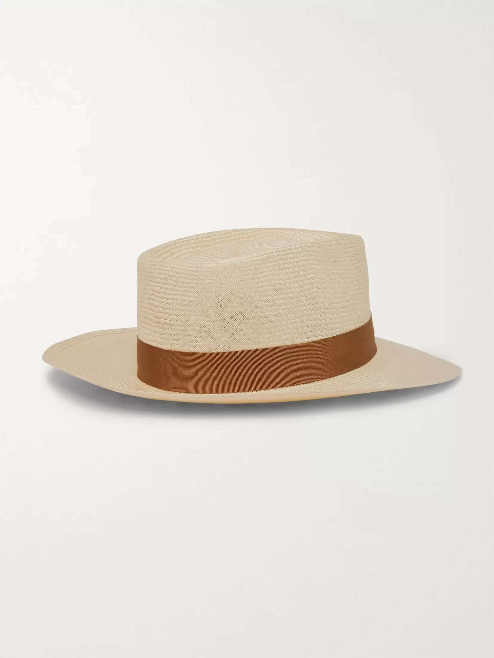 Lock & Co Hatters Sicily Grosgrain-Trimmed Straw Panama Hat