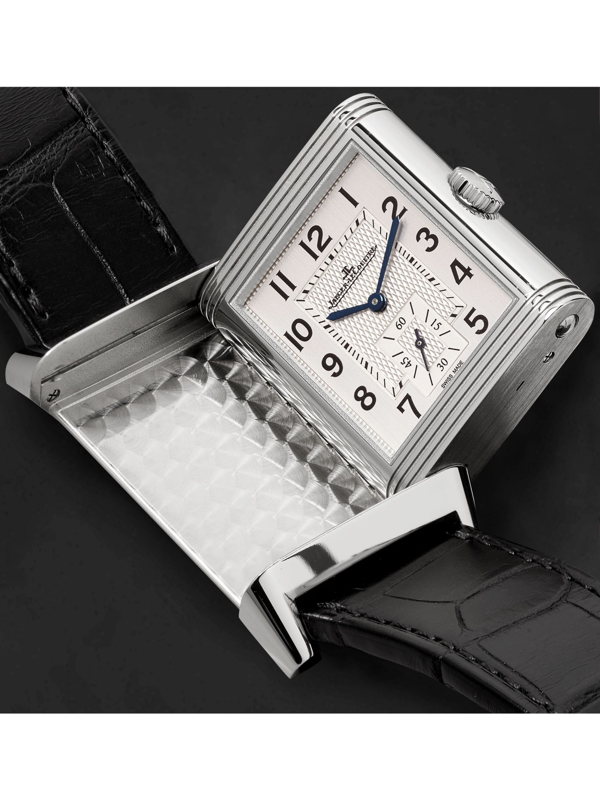 Jaeger-LeCoultre Reverso Classic Large Duoface Small Seconds Automatic 28.3mm 18-Karat Rose Gold and Alligator Watch