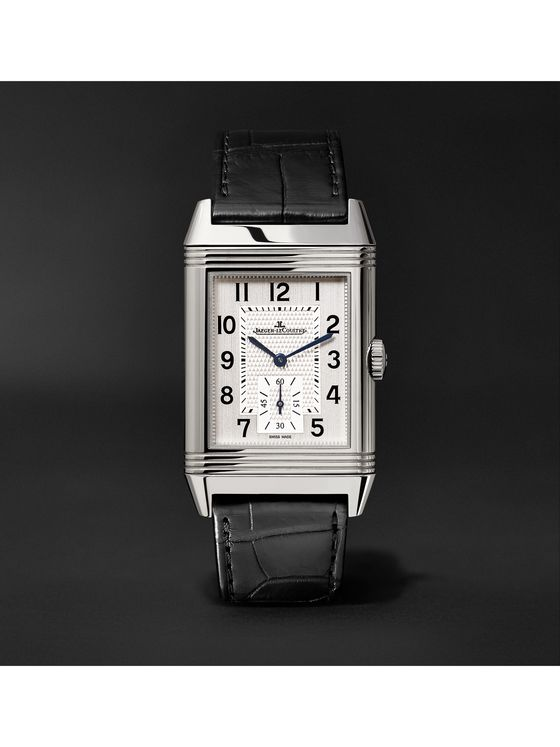 Jaeger-LeCoultre Reverso Classic Large Duoface Hand-Wound 28mm Stainless Steel and Leather Watch, Ref. No. Q9008170