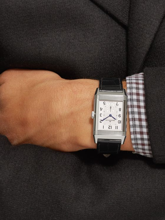 Jaeger-LeCoultre Reverso Classic Large Duoface 28mm Stainless Steel and Leather Watch, Ref. No. Q9008170